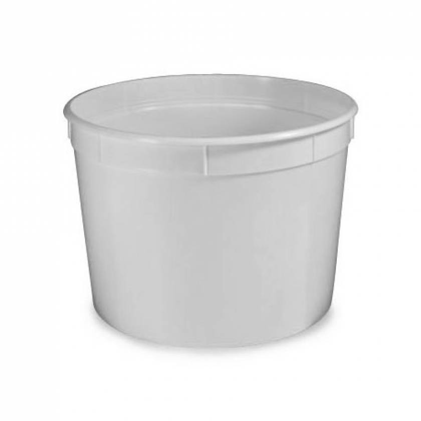 Heavy Duty Multi-Purpose Containers with Snap-On Lid - White