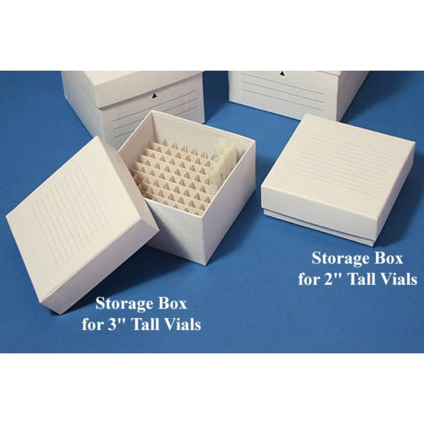 """Cardboard Freezer Storage Boxes for 2"""" and 3"""" Tall Vials"""