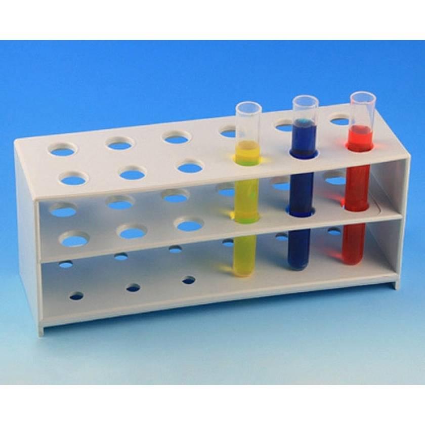 12-Place Tube Rack for 12mm Tubes - Polypropylene - White