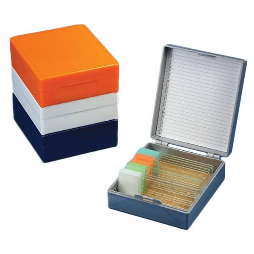Slide Storage Box for 25 Microscope Slides - Cork Lined