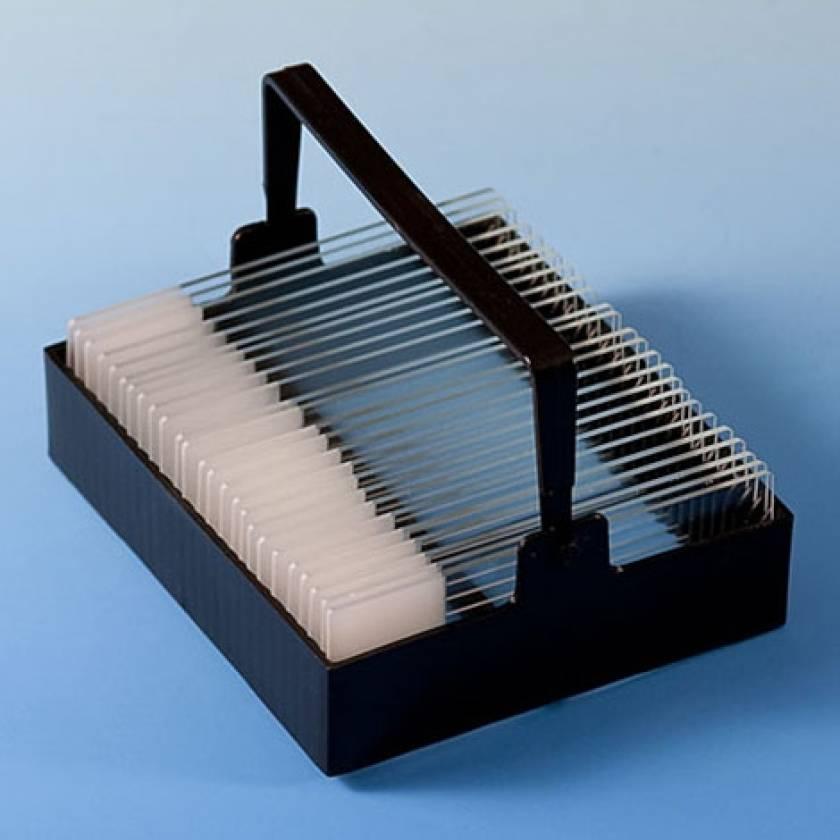 Slide Staining Rack - For 25 Slides - Black Polyoxymethylene (POM)