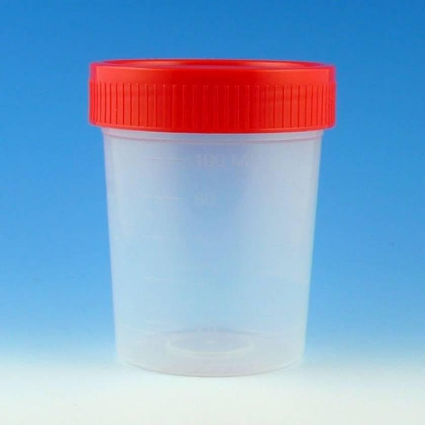 4oz Specimen Container with 1/4-Turn Red Screw Cap - Non-Sterile