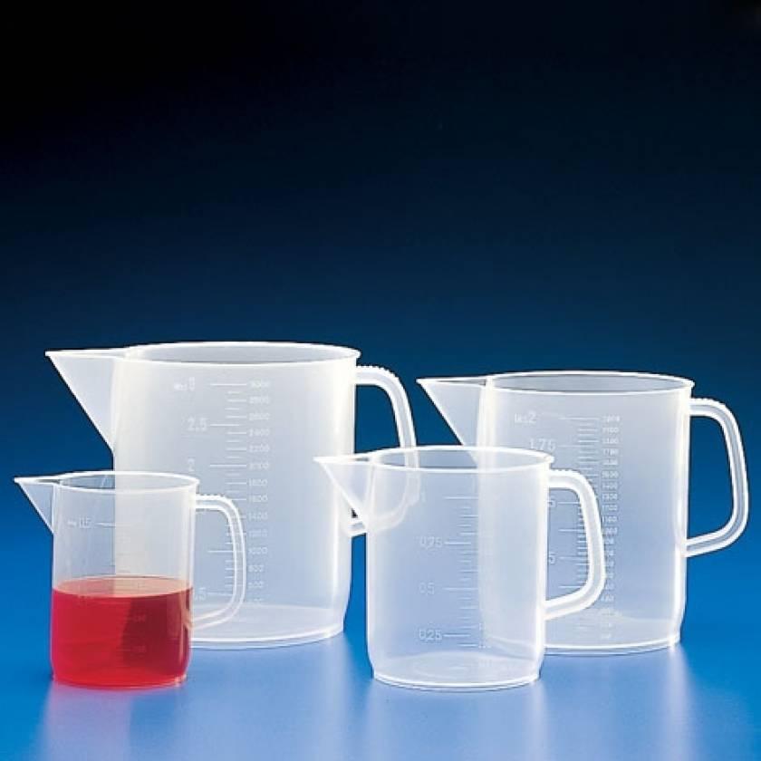 Beaker with Handle - Molded Graduations - Polypropylene