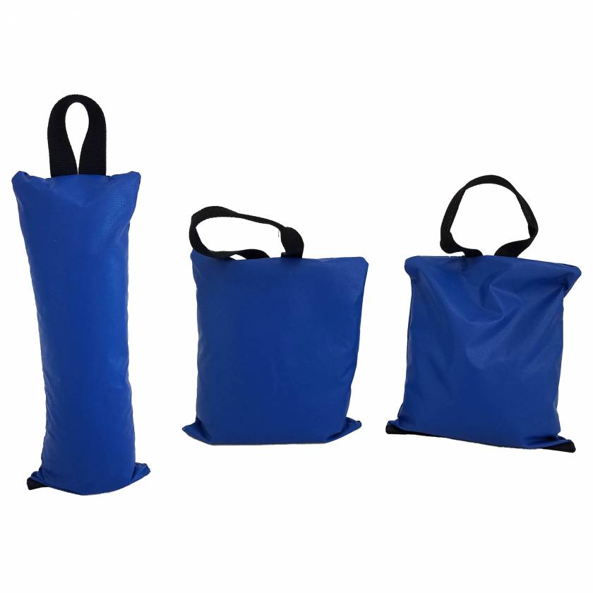 "General Sandbag - 8 Piece Set (Image shown one 5 lbs - Size 5"" x 12"" and two 10 lbs - Size 11"" x11"" Sandbags)"