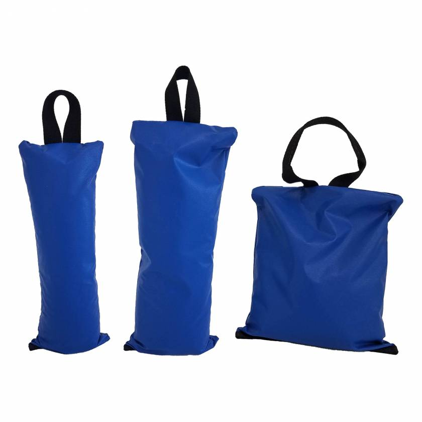 "General Sandbag - 8 Piece Variety Set (Image shown 5 lbs - Size 5"" x 12"", 10 lbs - Size 7"" x 16"", and 15 lbs - Size 12"" x12"" Sandbags)"