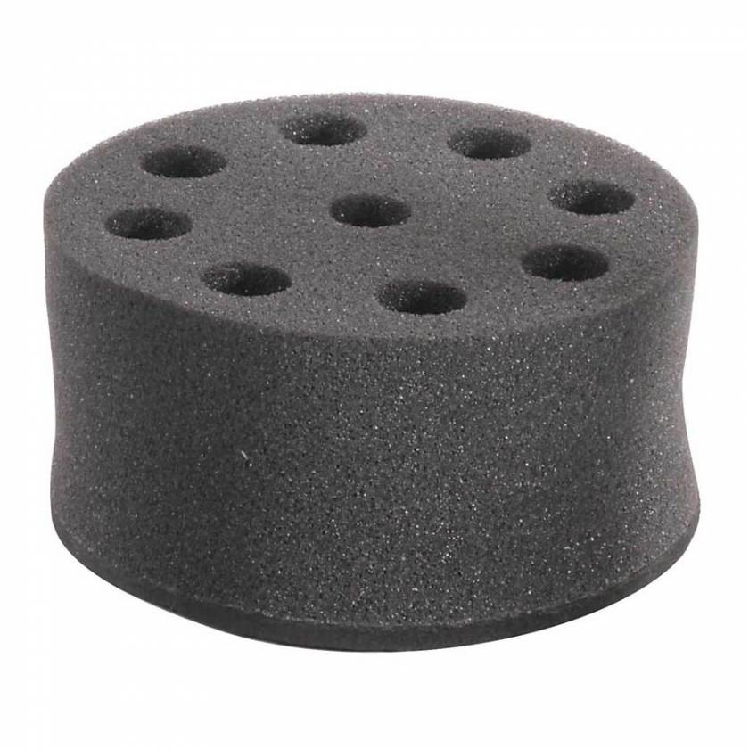 Globe Scientific GVM-AS-ADAPT8-16 Foam Tube Holder for Use with GVM-AS Vortex Mixer - 8 x 16mm Tubes