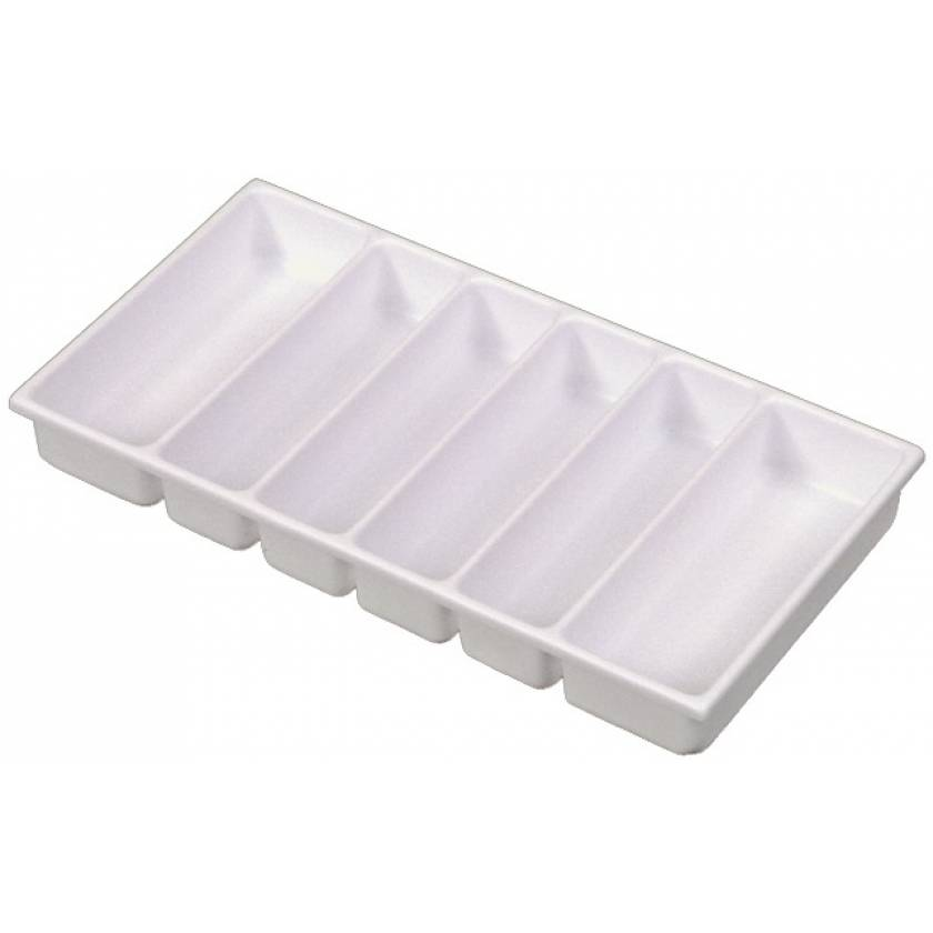 Six-Compartment Drawer Tray for Classic and OptimAl Line Carts