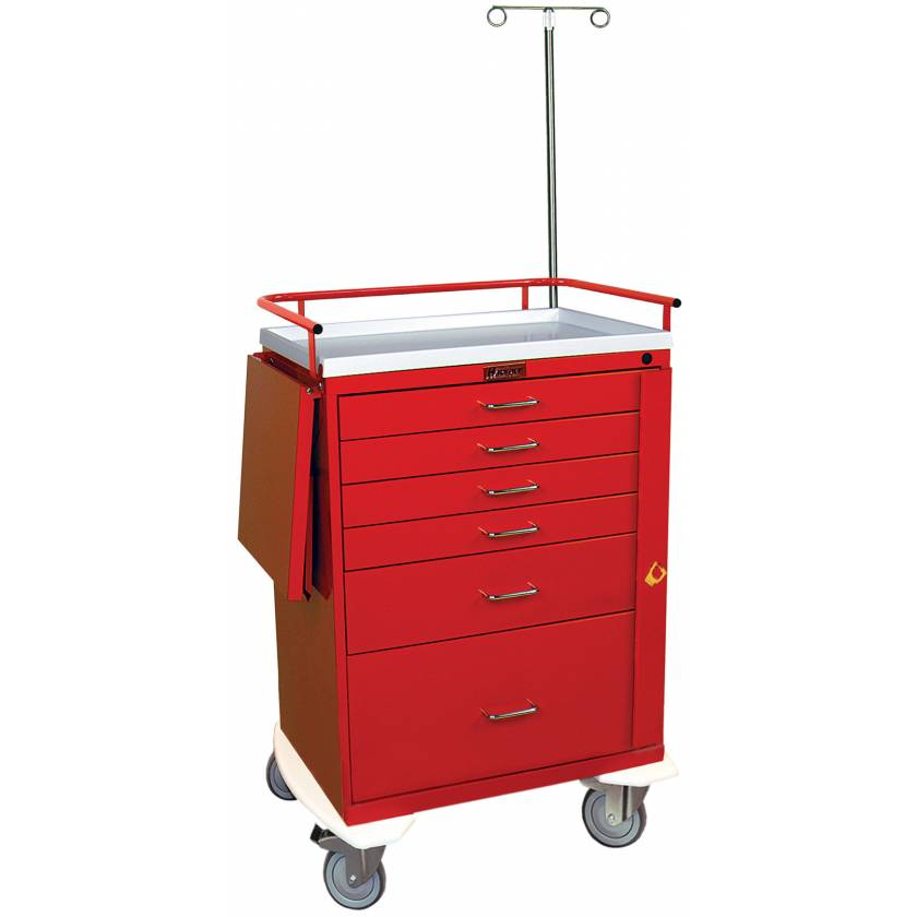 Classic Line Emergency Cart Tall Six Drawer - Specialty Accessory Package