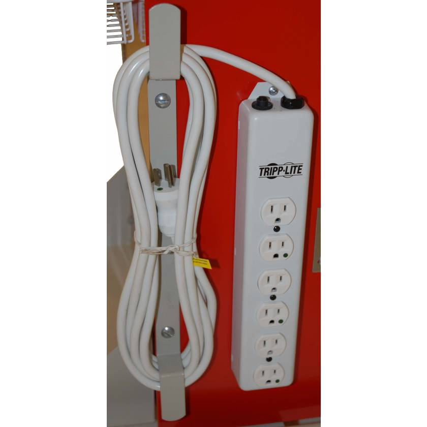 Hospital Grade 6 Socket Electrical Outlet for Classic and Mini Series Carts