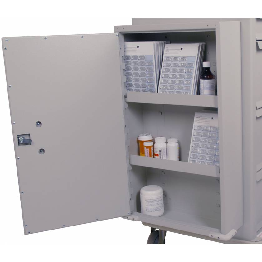Locking Side Mounted Storage Cabinet for Classic Line Carts - Left Opening