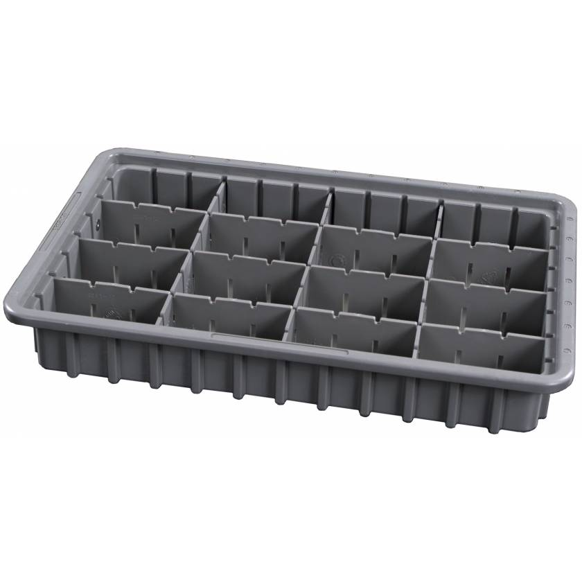 "3"" Economy Exchange Tray with Adjustable Dividers for Classic and OptimAl Line Carts"