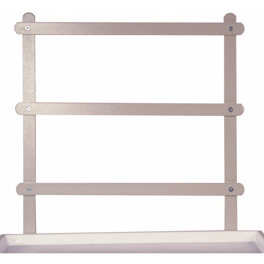 Three Tier Raised Back Rail System for Classic Line Carts