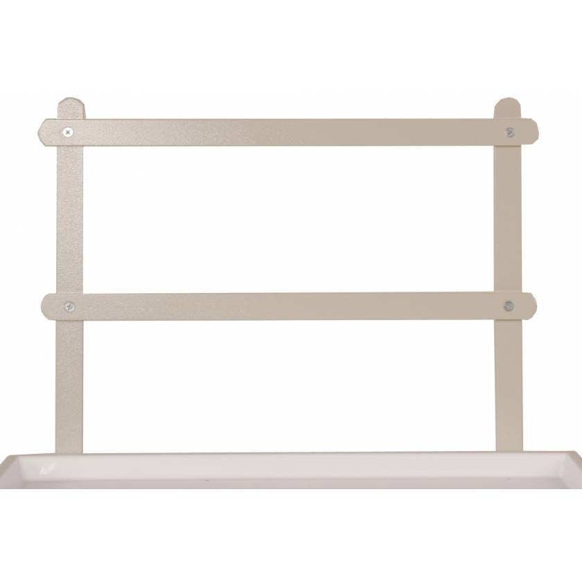 Two Tier Raised Back Rail System for Classic Line Carts