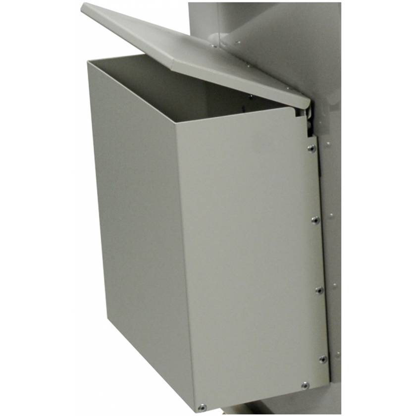Aluminum Waste Container with Mounting Bracket - Attached Lid