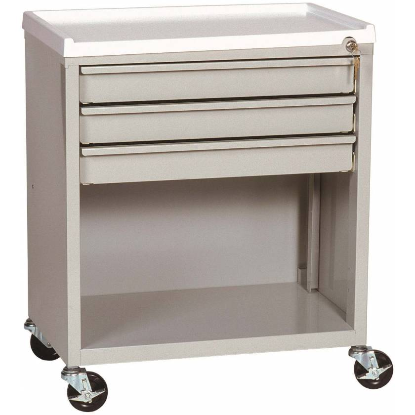 ETC Line Treatment Cart - Three Drawer with Lower Compartment