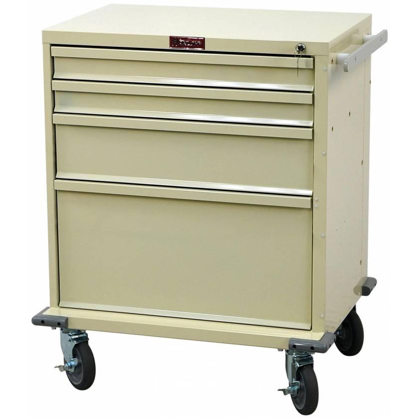 Harloff V24-4K V-Series Treatment and Procedure Cart Four Drawer with Key Lock