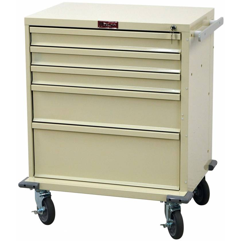 V-Series Treatment and Procedure Cart - Short Five Drawer