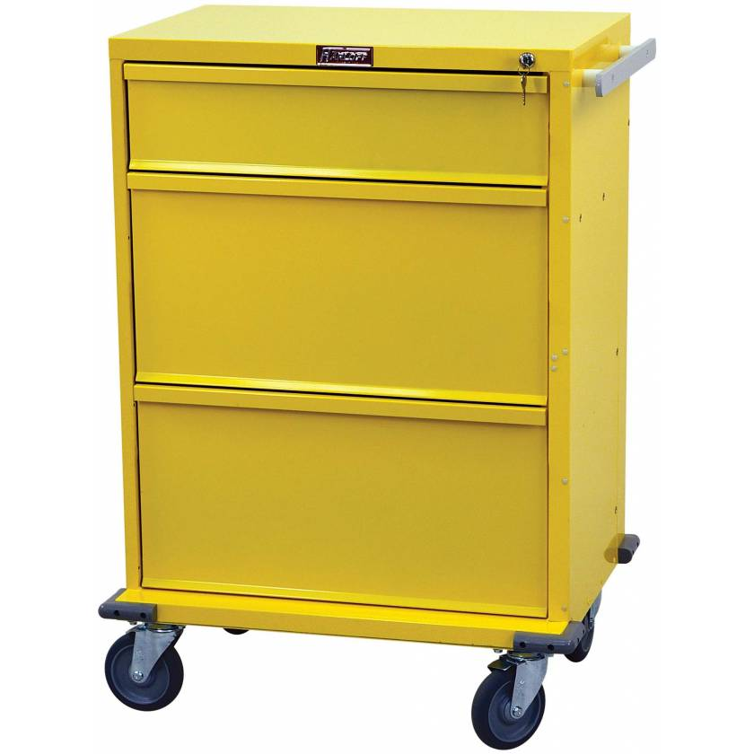 V-Series Infection Control/Isolation Cart - Tall Three Drawer