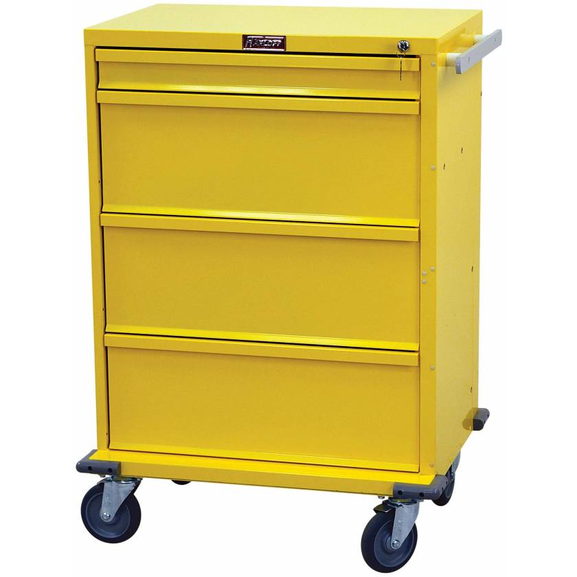 V-Series Infection Control/Isolation Cart - Tall Four Drawer