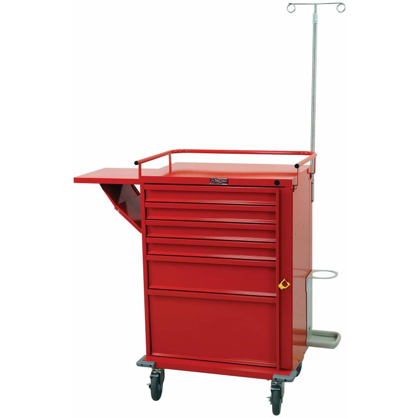 V-Series Emergency Cart Six Drawer with Accessory Package
