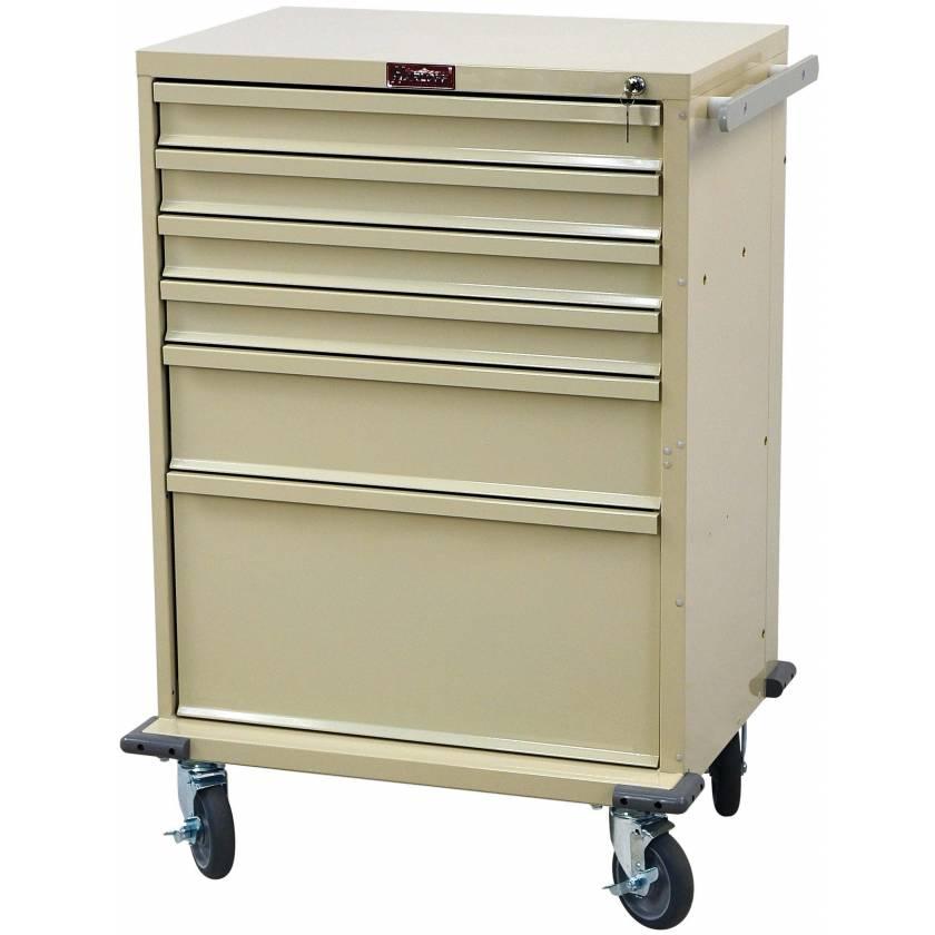 V-Series Treatment and Procedure Cart - Tall Six Drawer