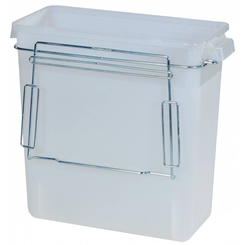 3 Gallon Plastic Waste Container Mounting Bracket without Cover for V-Series Carts
