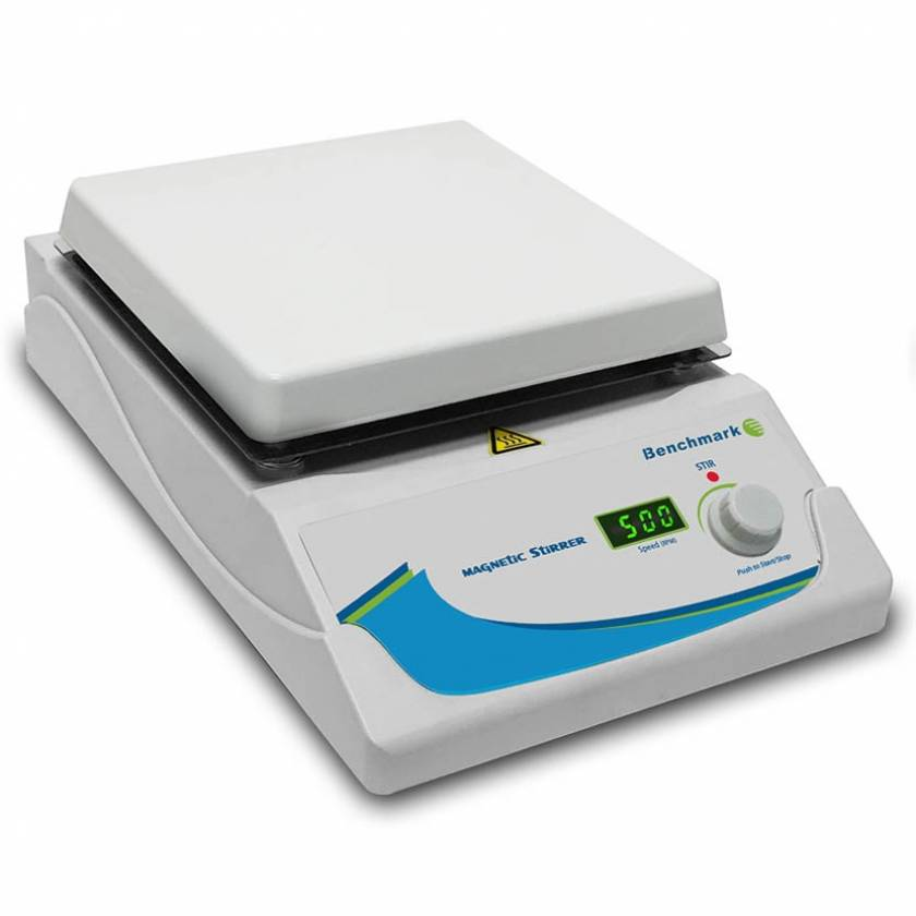 "Benchmark Scientific H3770-S Digital Magnetic Stirrer - 7"" x 7"" Platform"