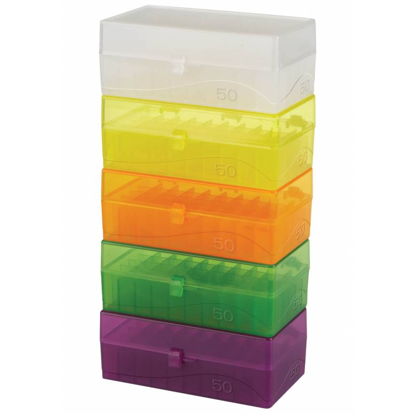 50-Well Hinged Microtube Storage Boxes