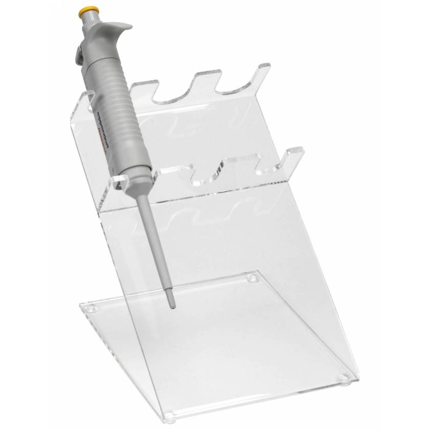 3-Place Clear Acrylic Pipettor Stand