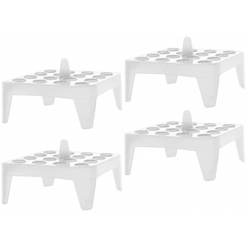 White Square Floating Microtube Rack for 16 x 1.5/2mL Tubes