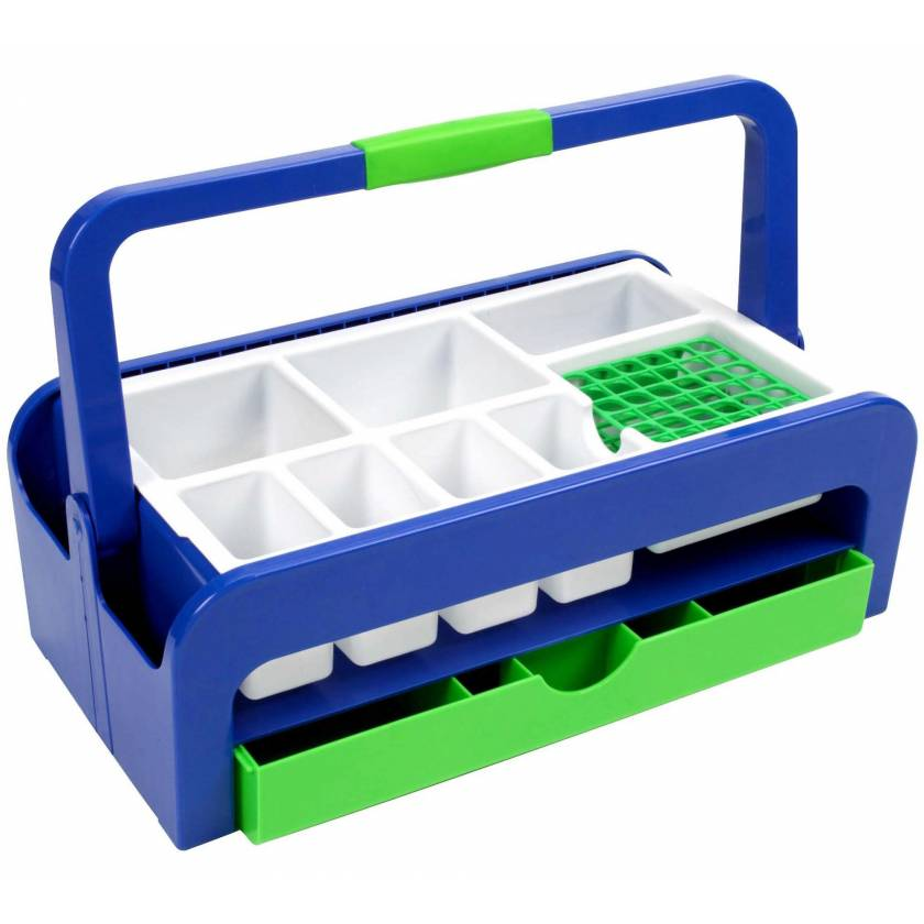 Droplet Phlebotomy Tray with 2 Inserts Style A and Rack for 36 x 13mm Test Tubes