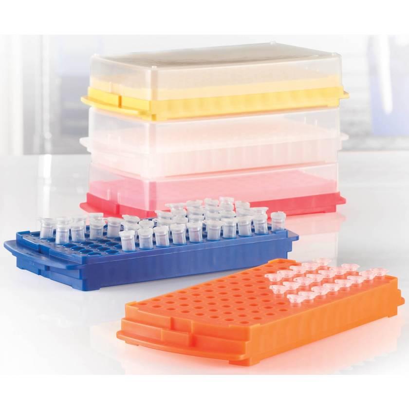 Polypropylene 96-Well Reversible Racks For 0.5 - 2.0 mL Vials