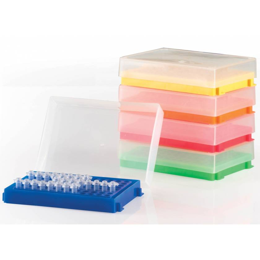 Polypropylene 96-Well PCR Racks For 0.2 mL Tubes - Assorted Colors