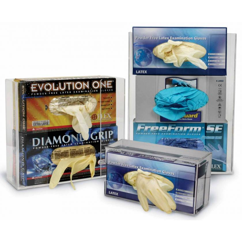 Clearly Safe Clear Acrylic Glove Box Holders