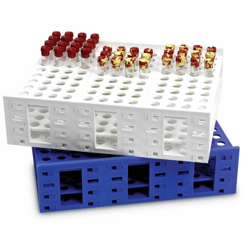 120-Well Single Mega Rack for 10mL Tubes 16mm Dia Well