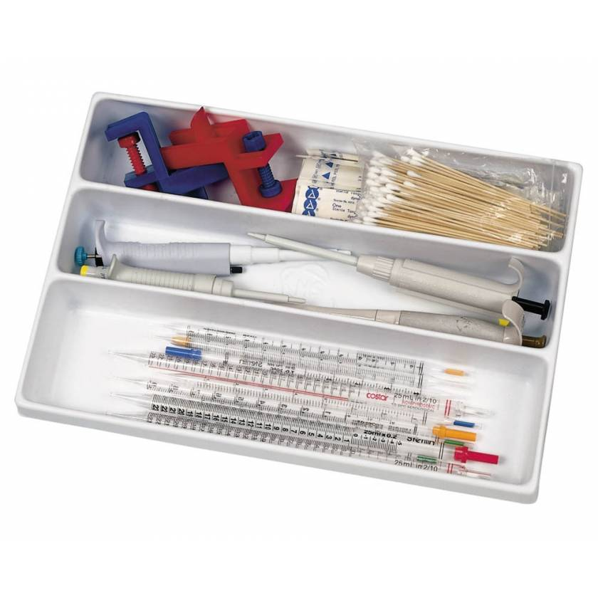 Polystyrene (PS) 3-Compartment Tray Drawer Organizer