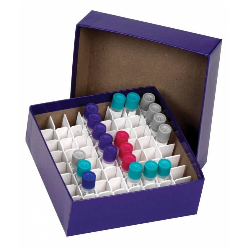 Cardboard Cryogenic Vial Blue Color Box & Lid