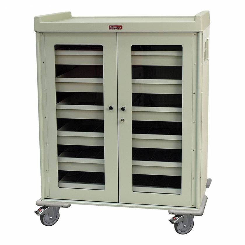"Harloff Model IOL1260 IntraOcular Lens Storage Cart Six Drawers with Key Lock - 55.5"" H x 43.4"" W x 30.75"" D"