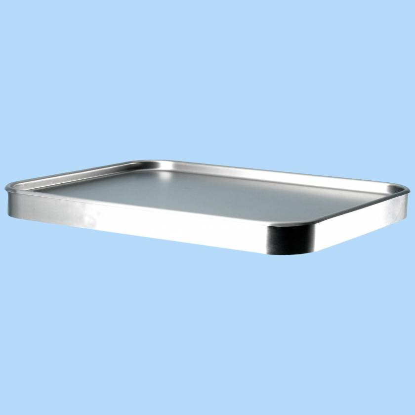 "Blickman Stainless Steel Mayo Stand Replacement Tray - 16""D x 21""W"
