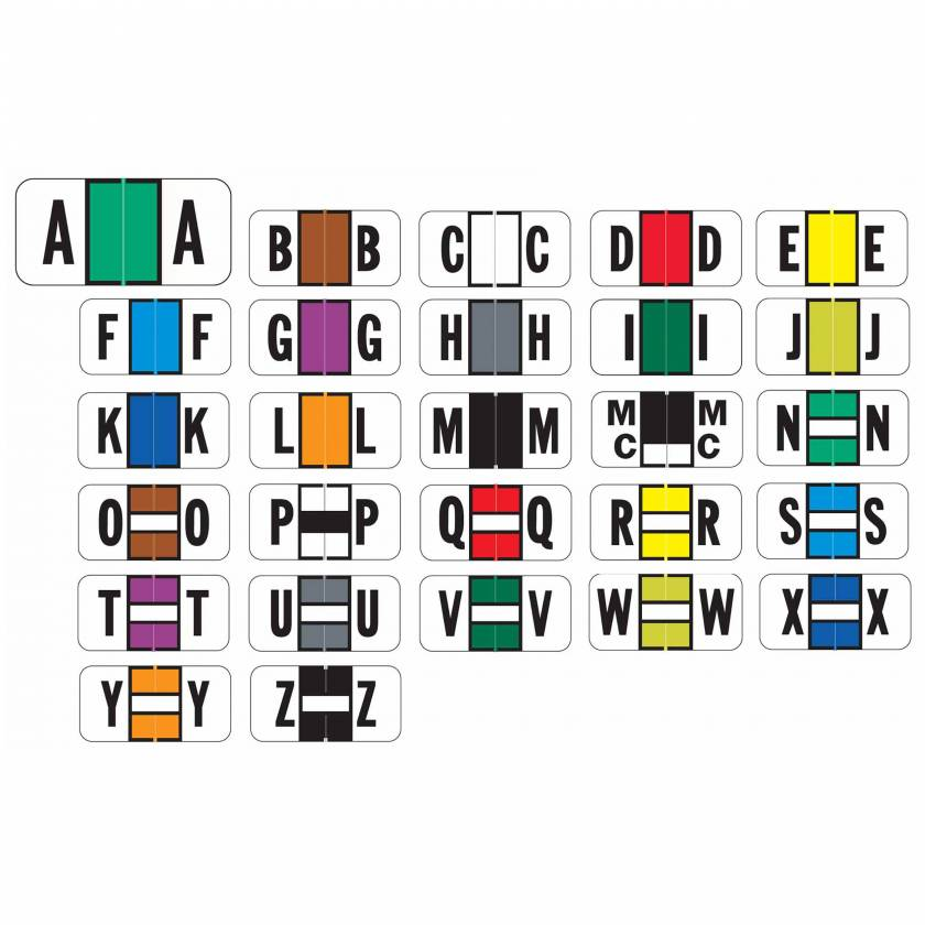 "Jeter 2900 Match JSAM Series Alpha Roll Labels - 3/4""H x 1 1/2""W"