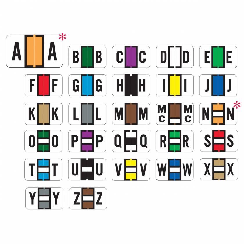 "Jeter 7200 Match JTAM Series Alpha Roll Labels - 15/16""H x 1 5/8""W"