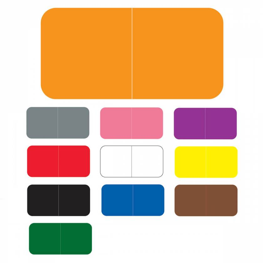 """Jeter 9500 Match JTLM Series Solid Color Roll Labels - 3/4""""H x 1 1/2""""W"""