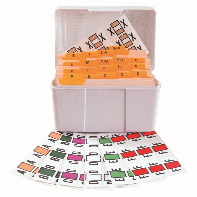 """Jeter 7100 Match JTPK Series Alpha Sheet Labels - 15/16""""H x 1 5/8""""W"""