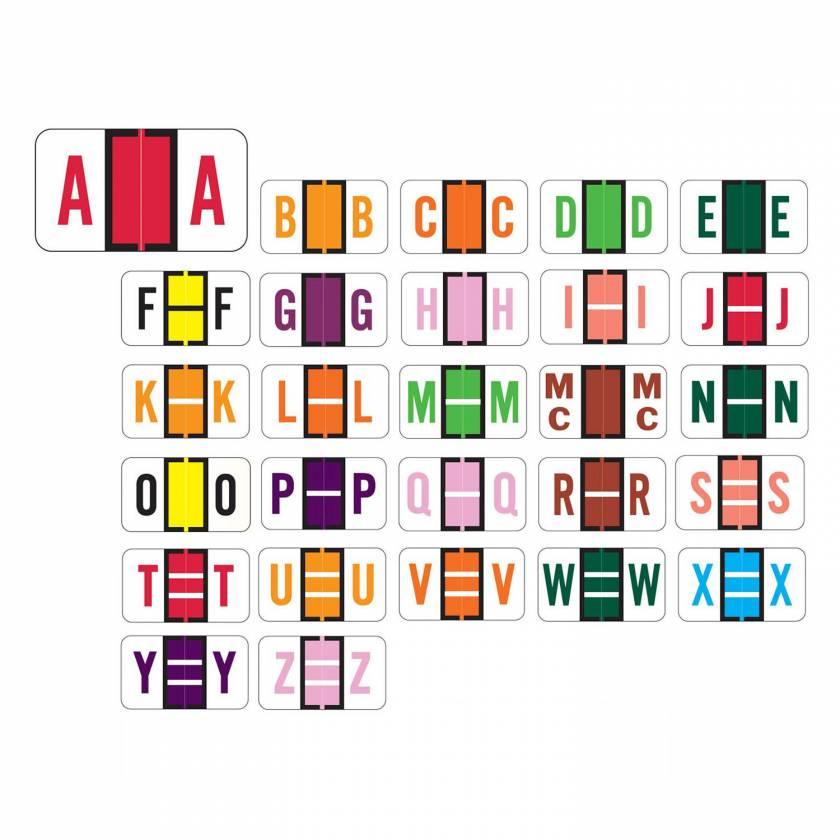 "Jeter 5190 Match JXAM Series Alpha Roll Labels - 15/16""H x 1 5/8""W"