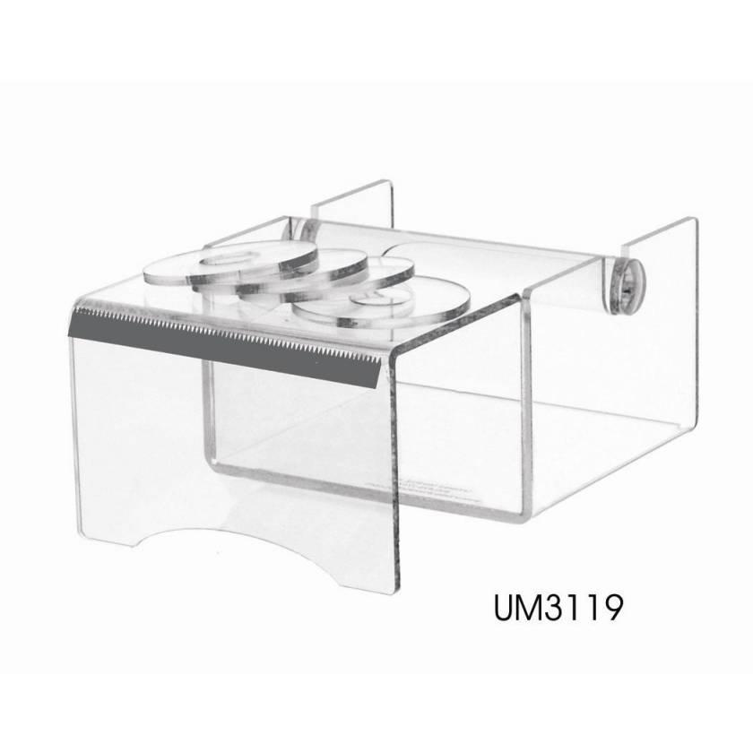 Acrylic Label Tape Dispenser with Writing Shelf