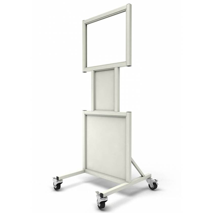 """Phillips Safety LB-2024-N Mobile Lead Barrier with Cutouts and Glass Window Size 20"""" H x 24"""" W"""