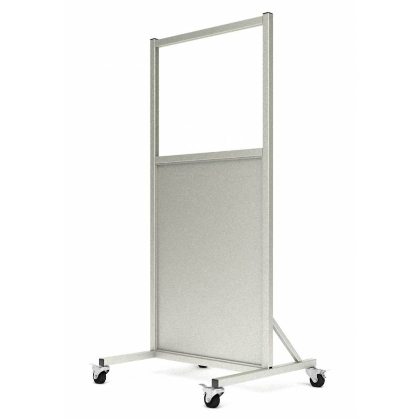 "Phillips Safety LB-2430 Mobile Lead Barrier Glass Window Size 24"" H x 30"" W"