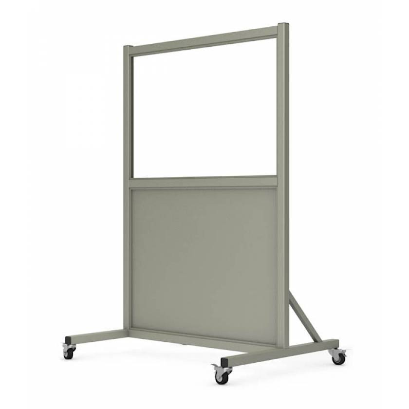 """Phillips Safety LB-2436-S Mobile Lead Barrier Glass Window 24"""" H x 36"""" W"""