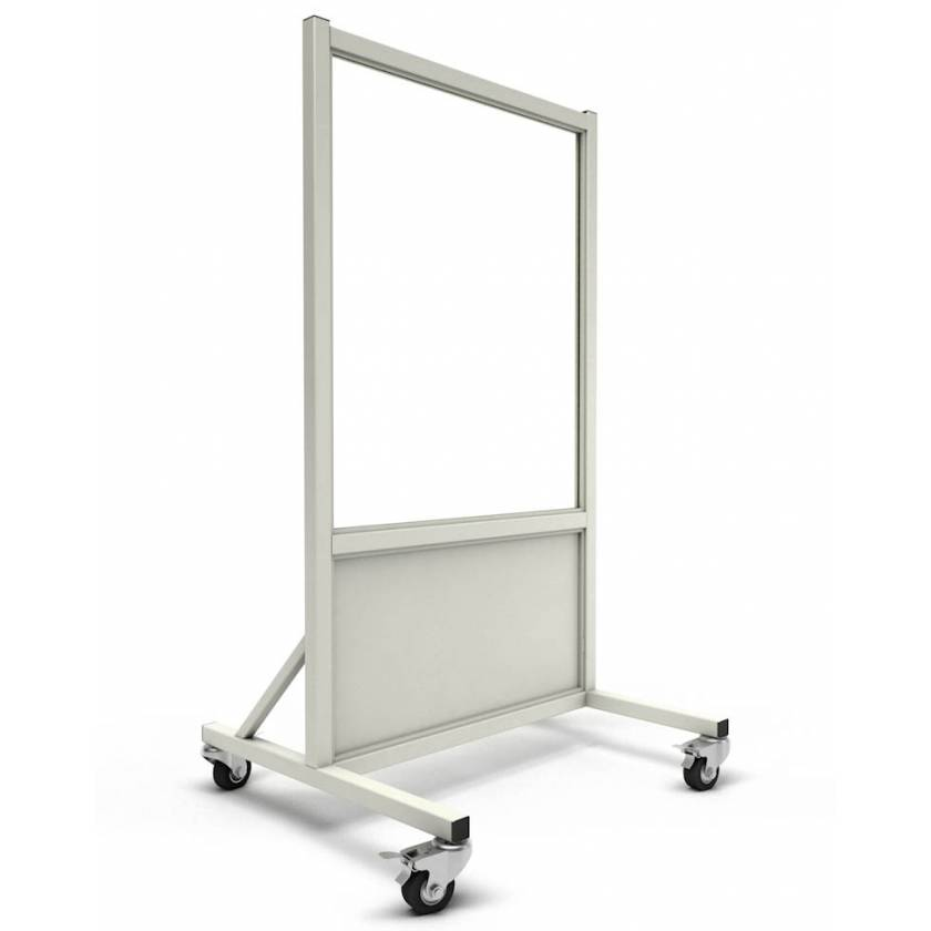 "Phillips Safety LB-3036 Mobile Lead Barrier Glass Window 36"" H x 30"" W"