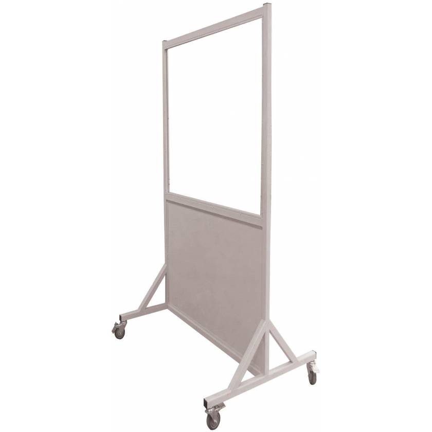 """Phillips Safety LB-3048 Mobile Lead Barrier Glass Window 48"""" H x 30"""" W"""